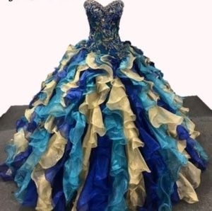 Dresses & Skirts - Embroidered sweet 15 / 16 ball gown